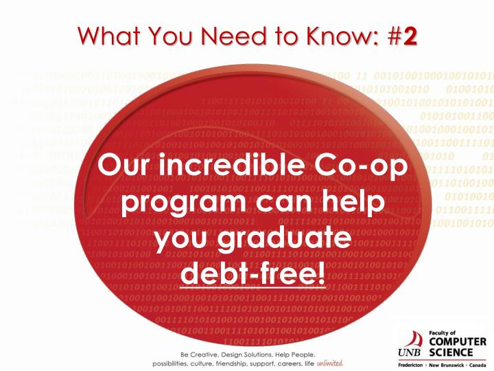 Our incredible Co-op program can help you graduate