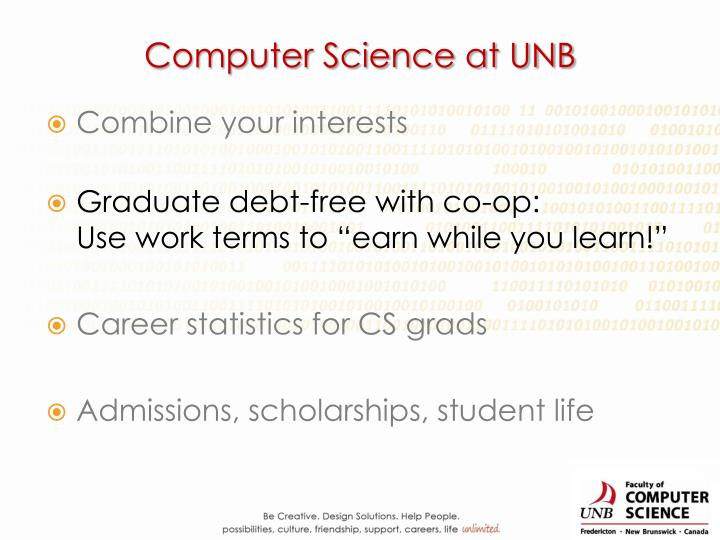 Computer Science at UNB