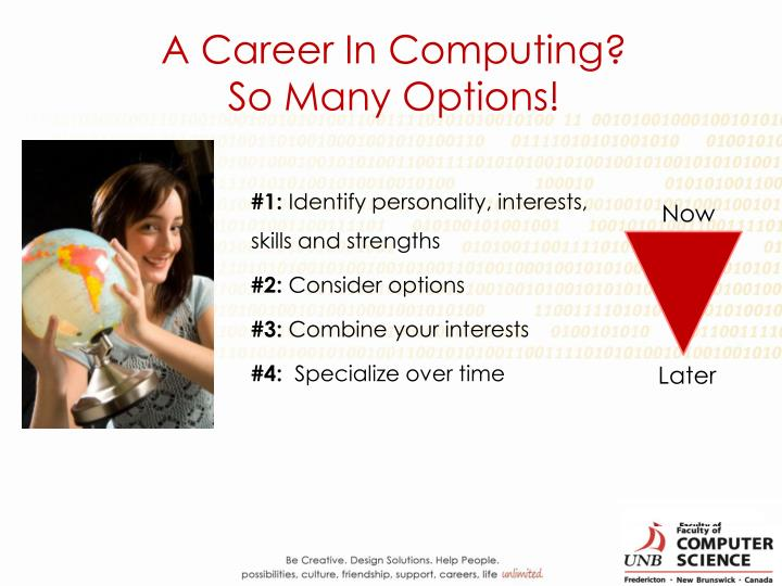 A Career In Computing?