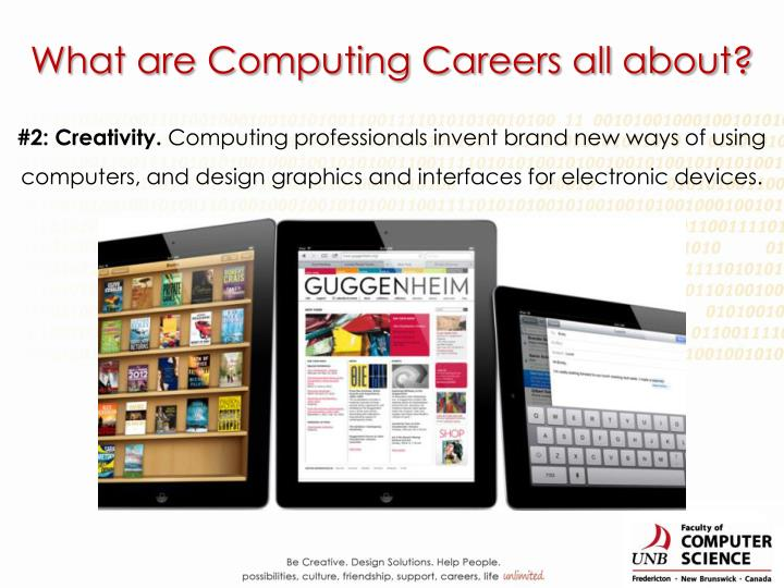What are Computing Careers all about?