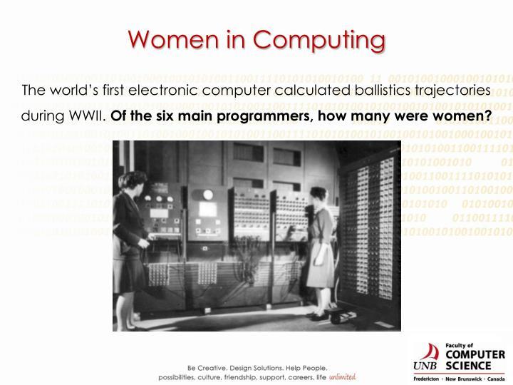 Women in Computing