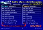 duality of procedural languages