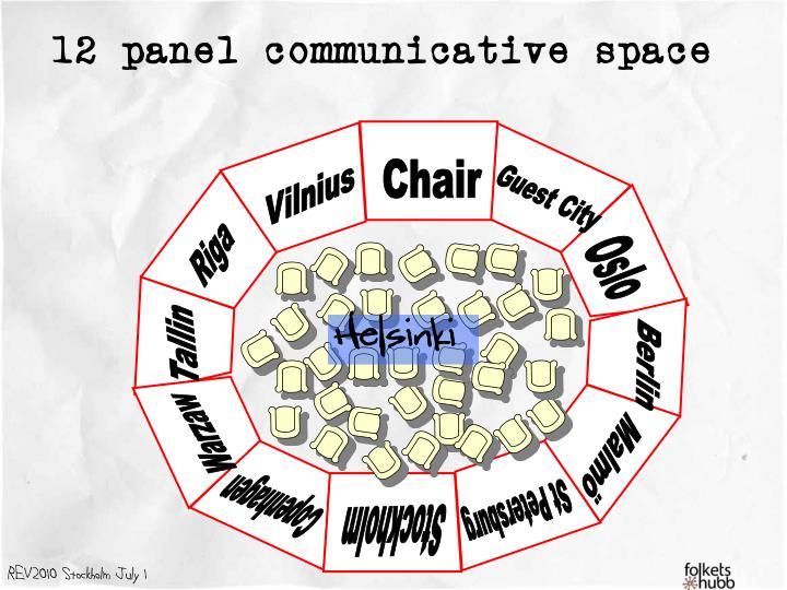 12 panel communicative space