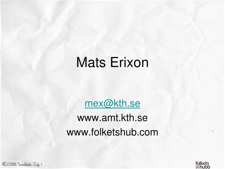 Mats Erixon