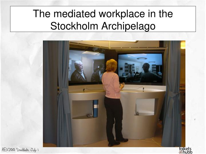 The mediated workplace in the Stockholm Archipelago