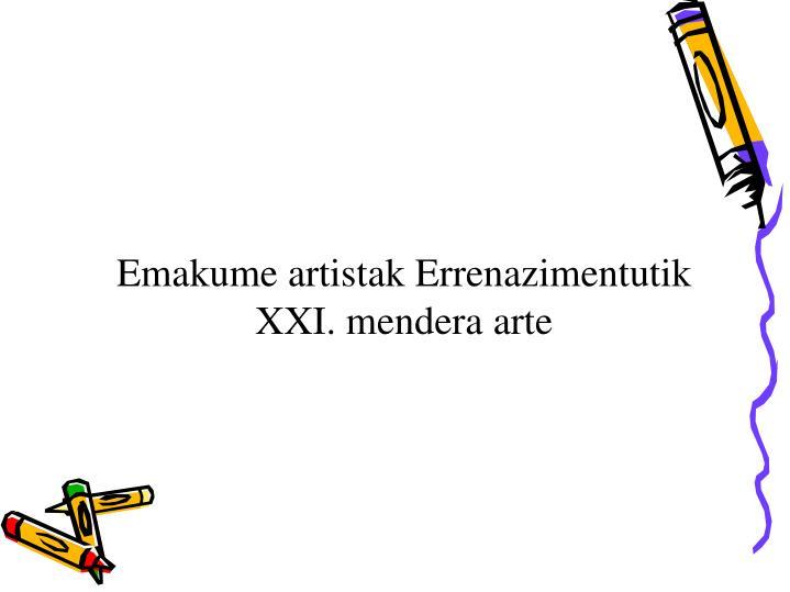 Emakume artistak Errenazimen
