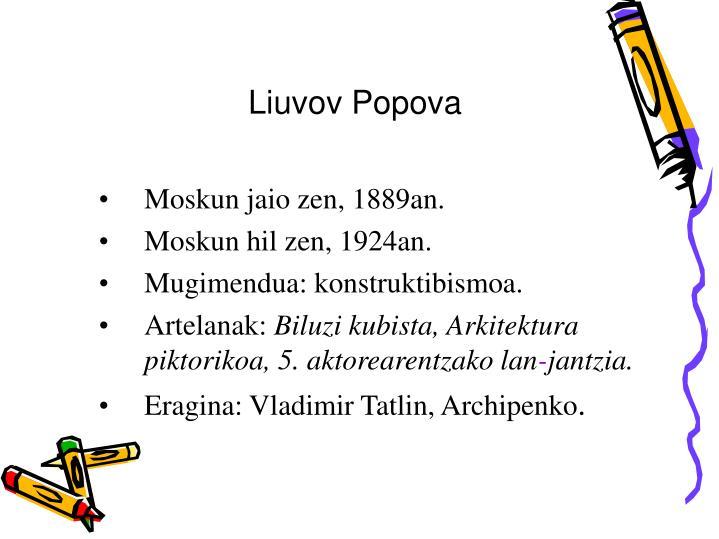 Liuvov Popova