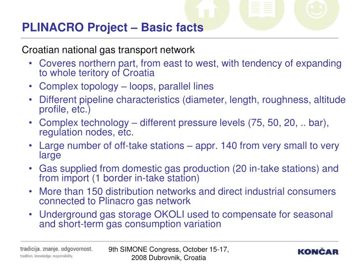 Plinacro project basic facts