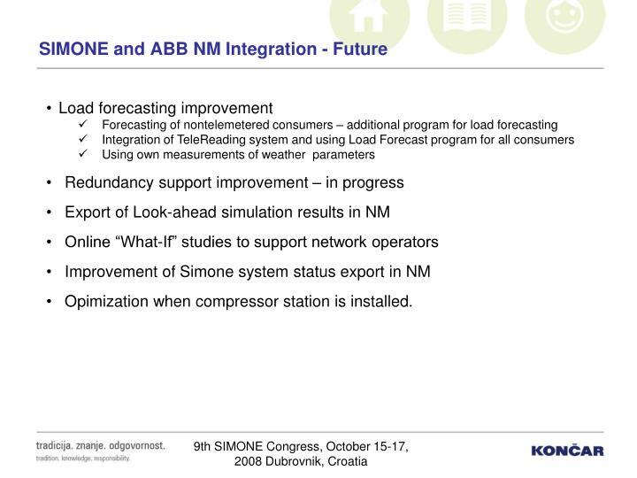 SIMONE and ABB NM Integration - Future