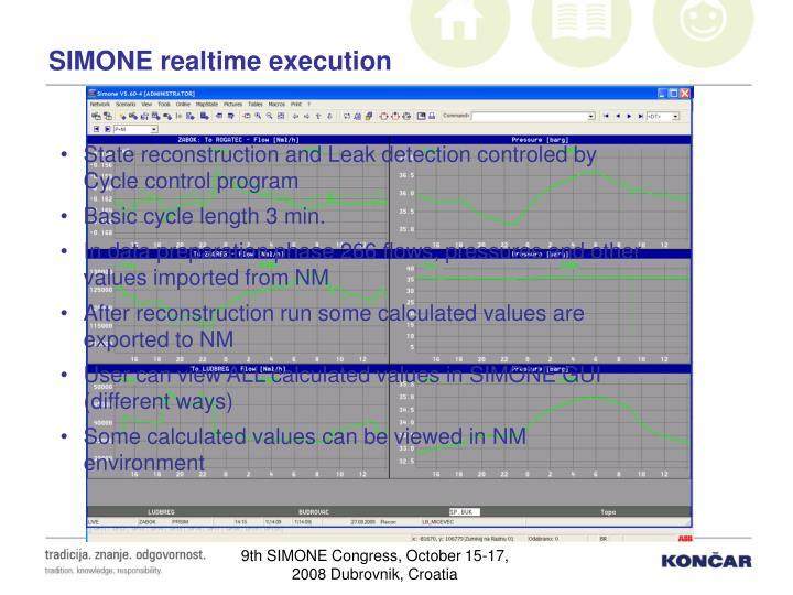 SIMONE realtime execution