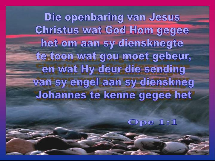 Die openbaring van Jesus