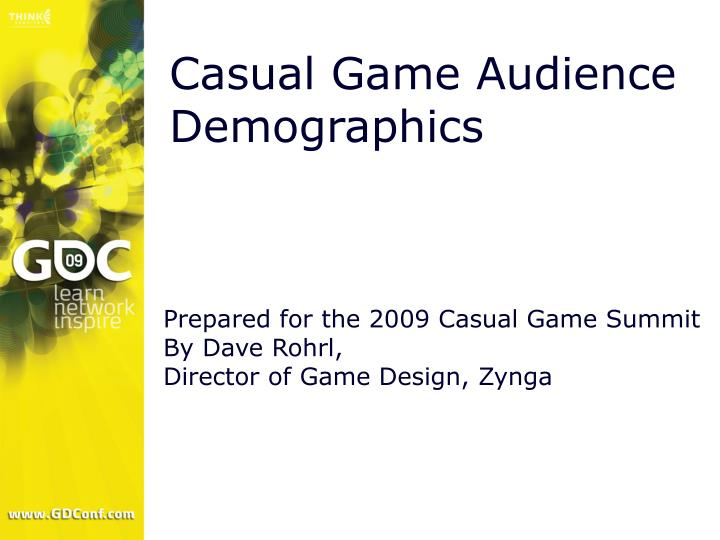 Casual Game Audience Demographics