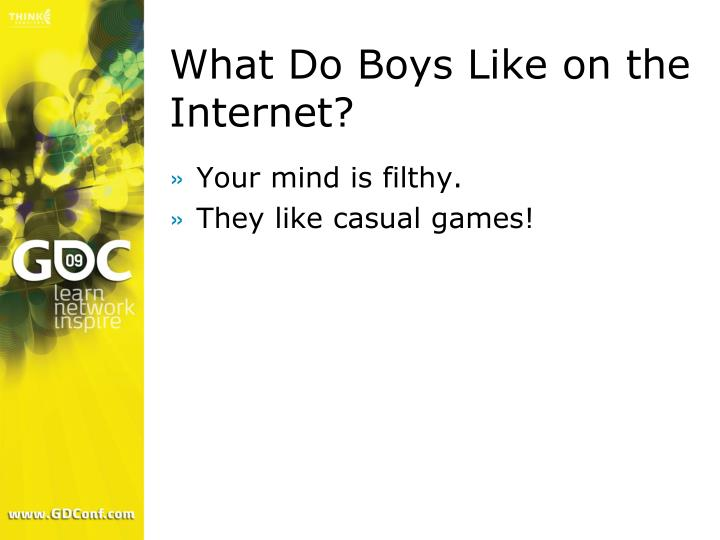 What Do Boys Like on the Internet?