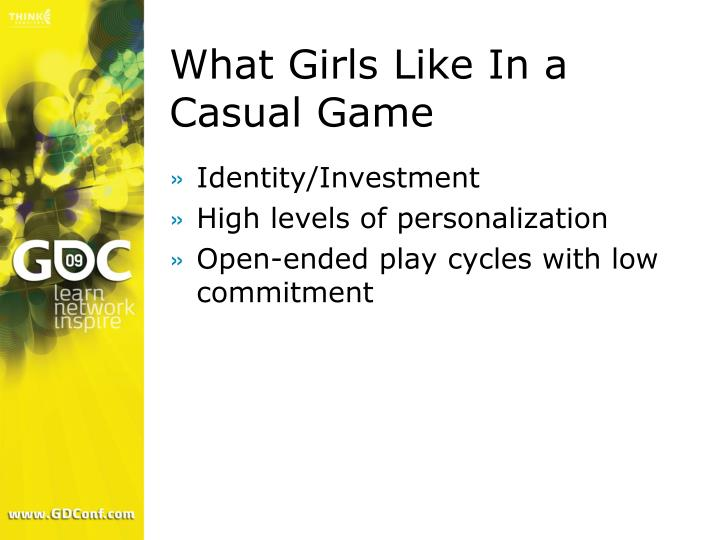 What Girls Like In a Casual Game