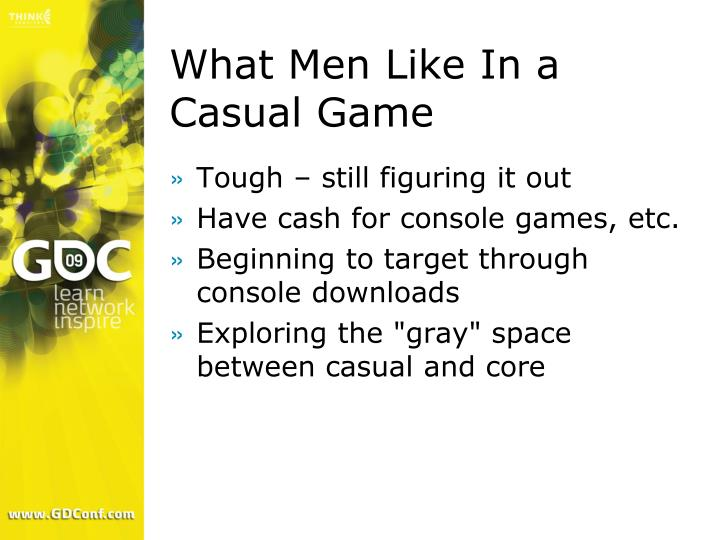 What Men Like In a Casual Game