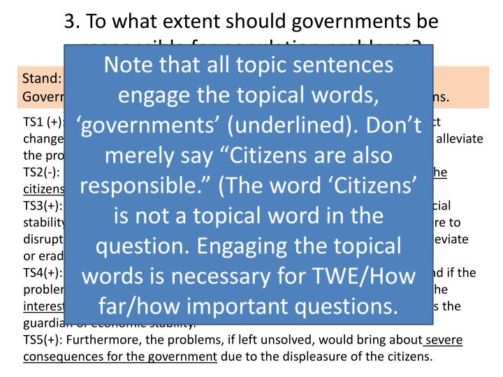 3 to what extent should governments be responsible for population problems1