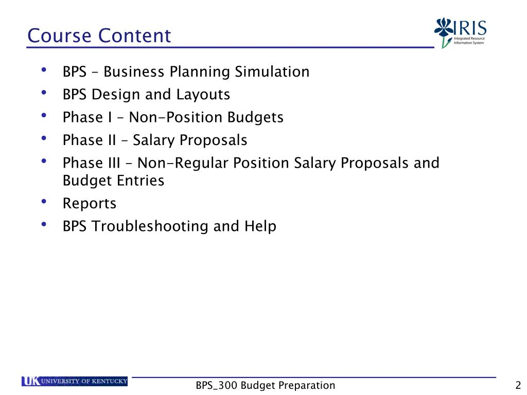PPT - BPS_300 Business Planning Simulation PowerPoint