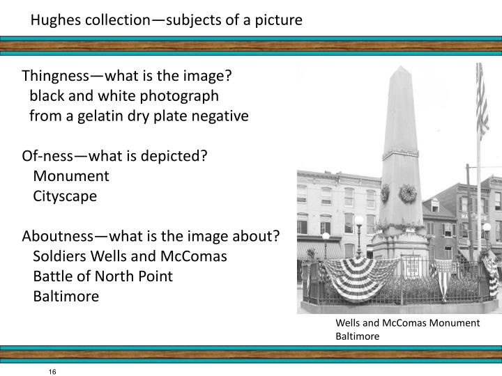 Hughes collection—subjects of a picture