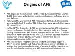 origins of afs