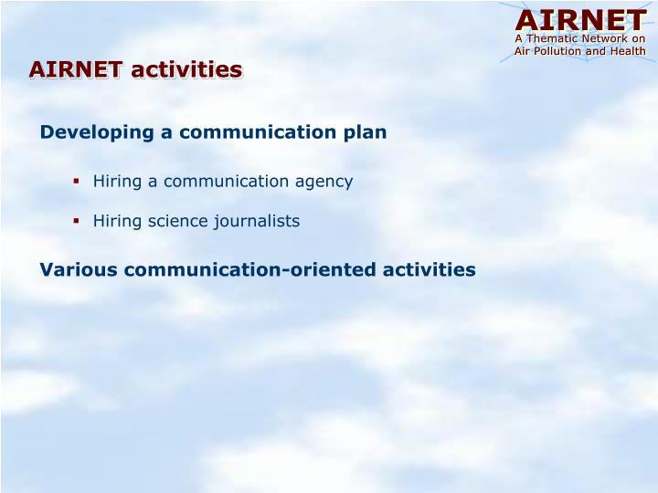 AIRNET activities