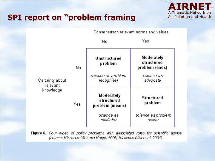 """SPI report on """"problem framing"""