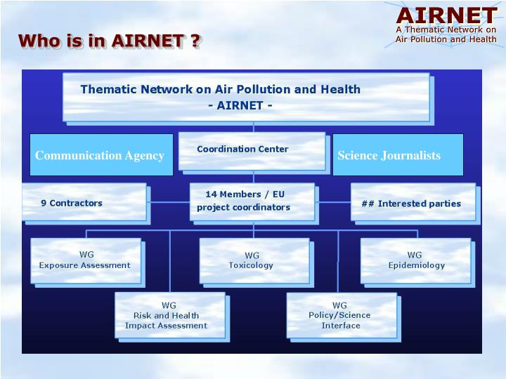 Who is in AIRNET ?