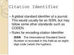 citation identifier