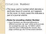 citation number