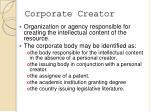 corporate creator