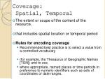 coverage spatial temporal