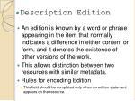 description edition