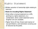 rights statement