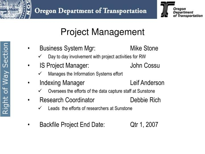 Business System Mgr:   Mike Stone