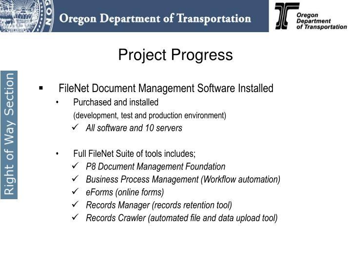 FileNet Document Management Software Installed