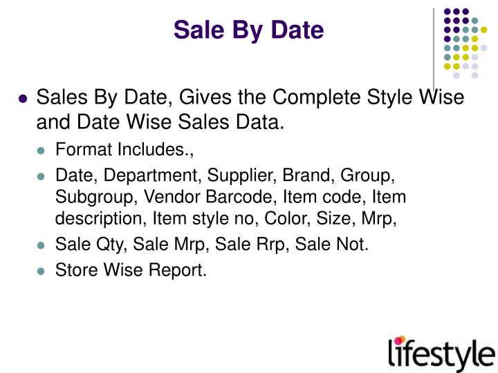 Sale By Date