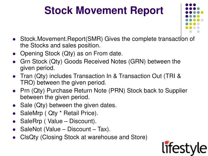 Stock Movement Report