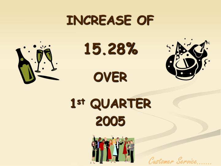 INCREASE OF