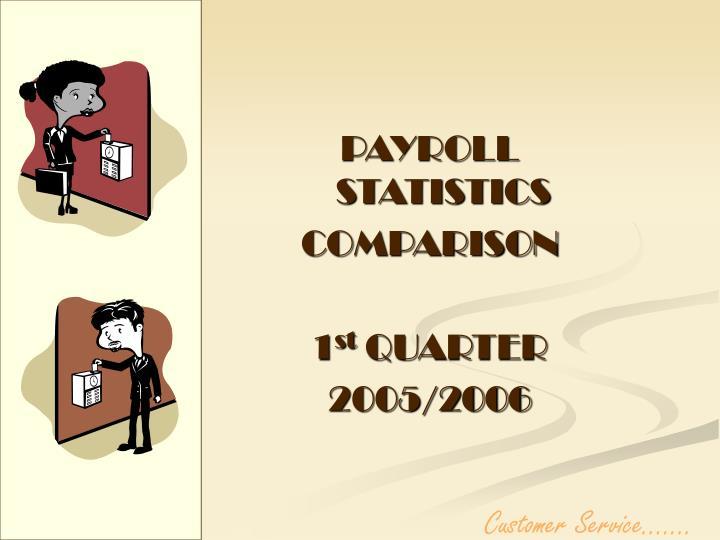 PAYROLL STATISTICS