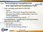 cont technological competencies and operational excellence path