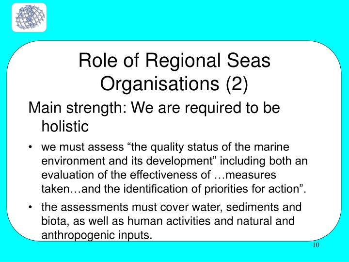 Role of Regional Seas Organisations (2)