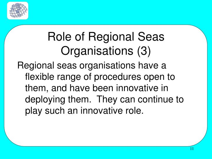 Role of Regional Seas Organisations (3)