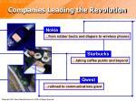 companies leading the revolution