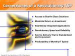 cornerstones of a revolutionary asp