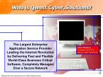 who is qwest cyber solutions