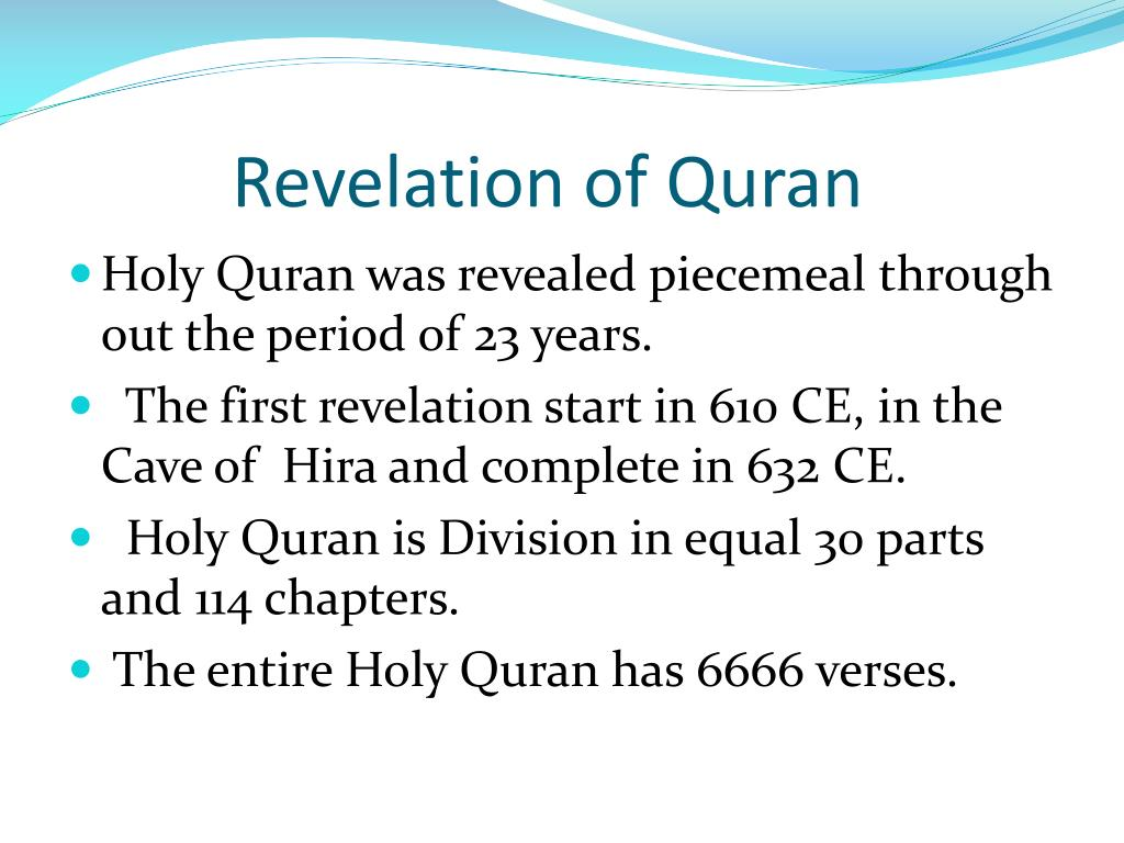 PPT - The Opening Chapter Of Holy Quran PowerPoint