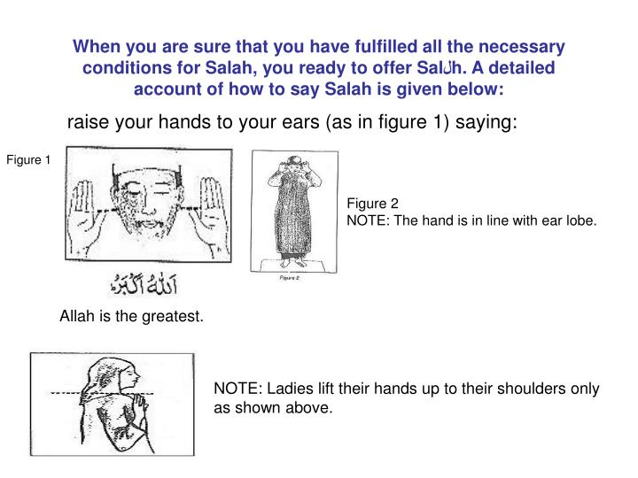 raise your hands to your ears as in figure 1 saying n.