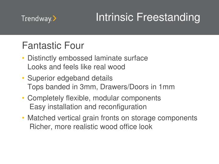 Intrinsic Freestanding