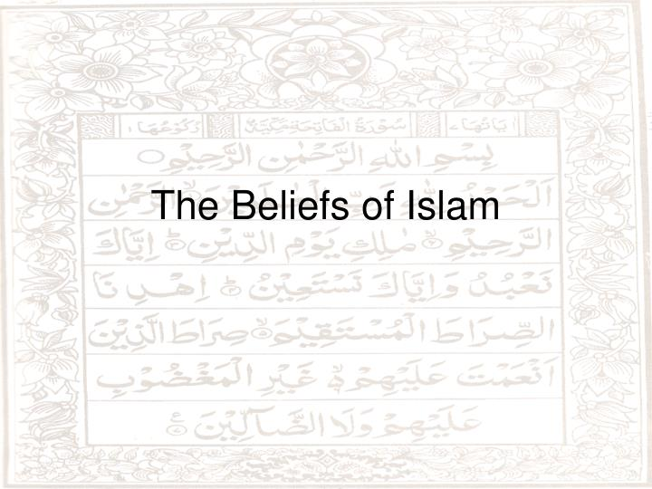 the beliefs of islam n.