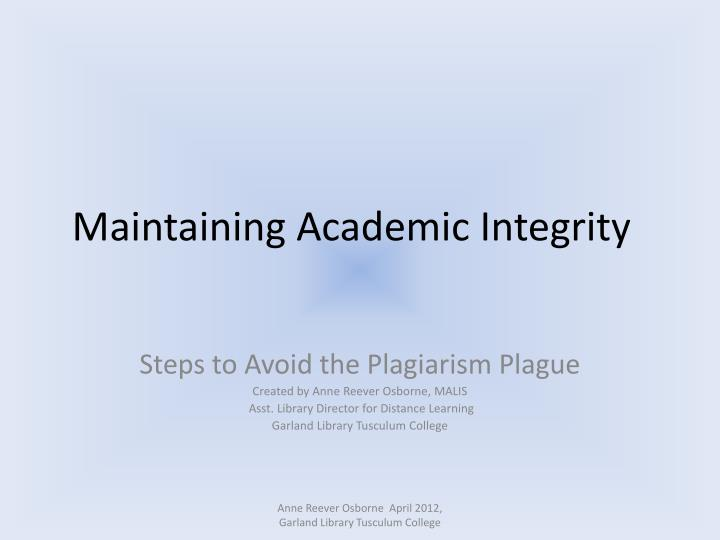 "essay about academic integrity Free essay: introduction on a research paper, how much information can you ""borrow"" with or without citing the original author how do you cite the resources."