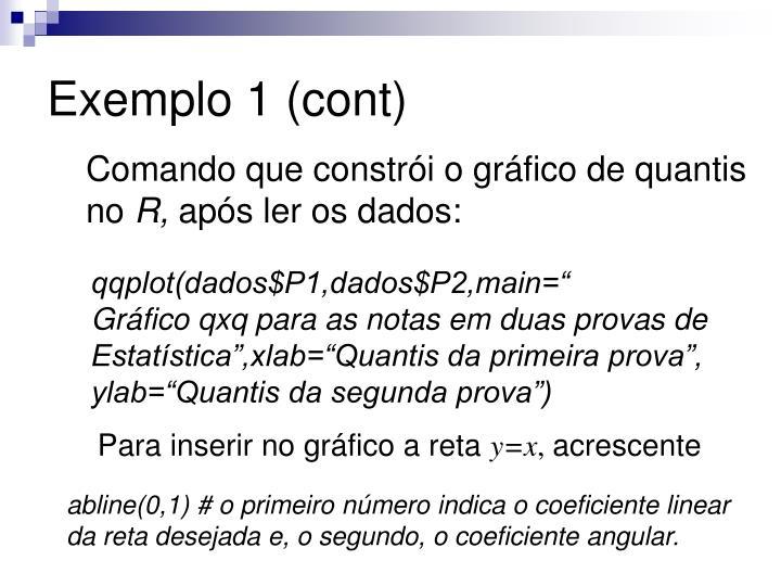 Exemplo 1 (cont)